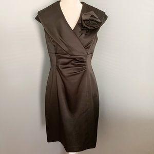 Jessica Howard formal satin black fitted dress
